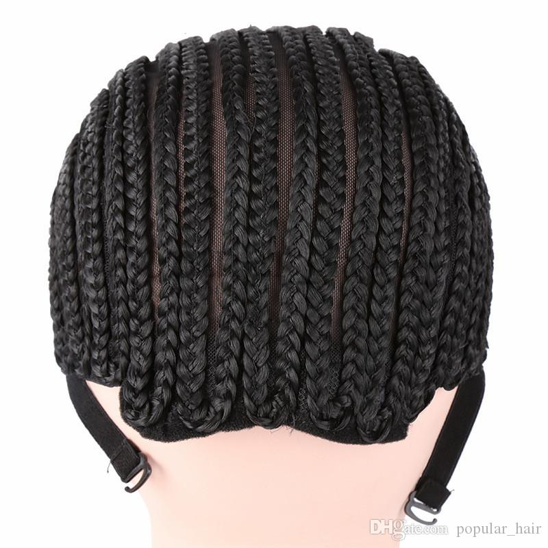 Cornrows Cap For Easier Sew In Braided Wig Caps Crotchet Caps for Making Wigs Glueless Hair Net Liner Crochet Wig Caps