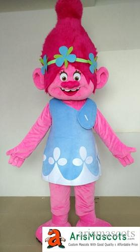 Adult Size Funny Trolls Poppy Mascot Costume Deguisement Mascotte Cute Poppy Costume for Birthday Party Cartoon Mascots for Sale Arismascots Trolls Mascot ... & Adult Size Funny Trolls Poppy Mascot Costume Deguisement Mascotte ...