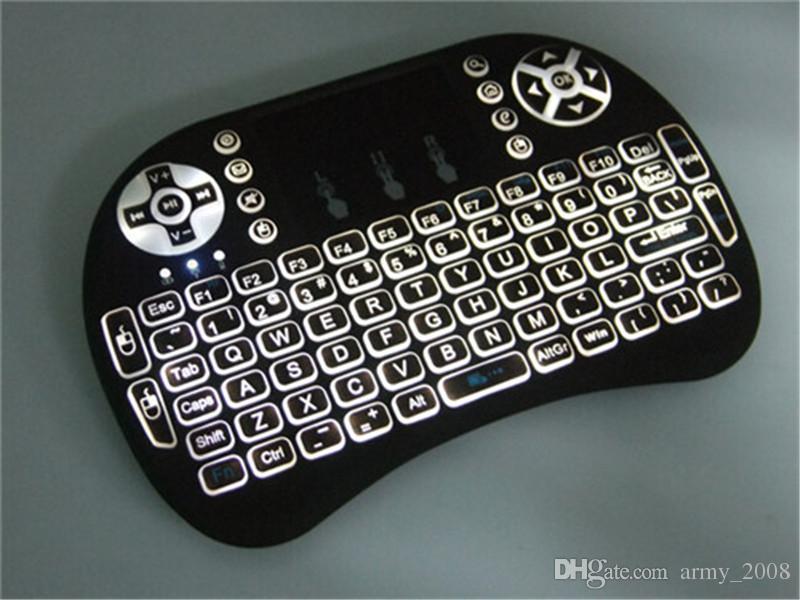 РИИ i8 мини беспроводная клавиатура мышь Multi-касания подсветки для противоударный про M8S плюс Т95 S905 S812 смарт-телевизор Android-ТВ коробка ПК