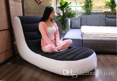 deluxe single flocking inflatable sofa Lazy sofa,Backrest reclining chair Do not include the electric pump
