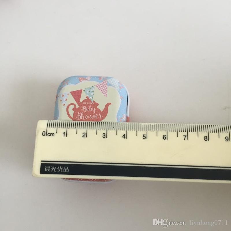 Tea Pot Candy Box/ tin gift box /Travel Pill Case Square Collectables Tin Boxes/Tea Party
