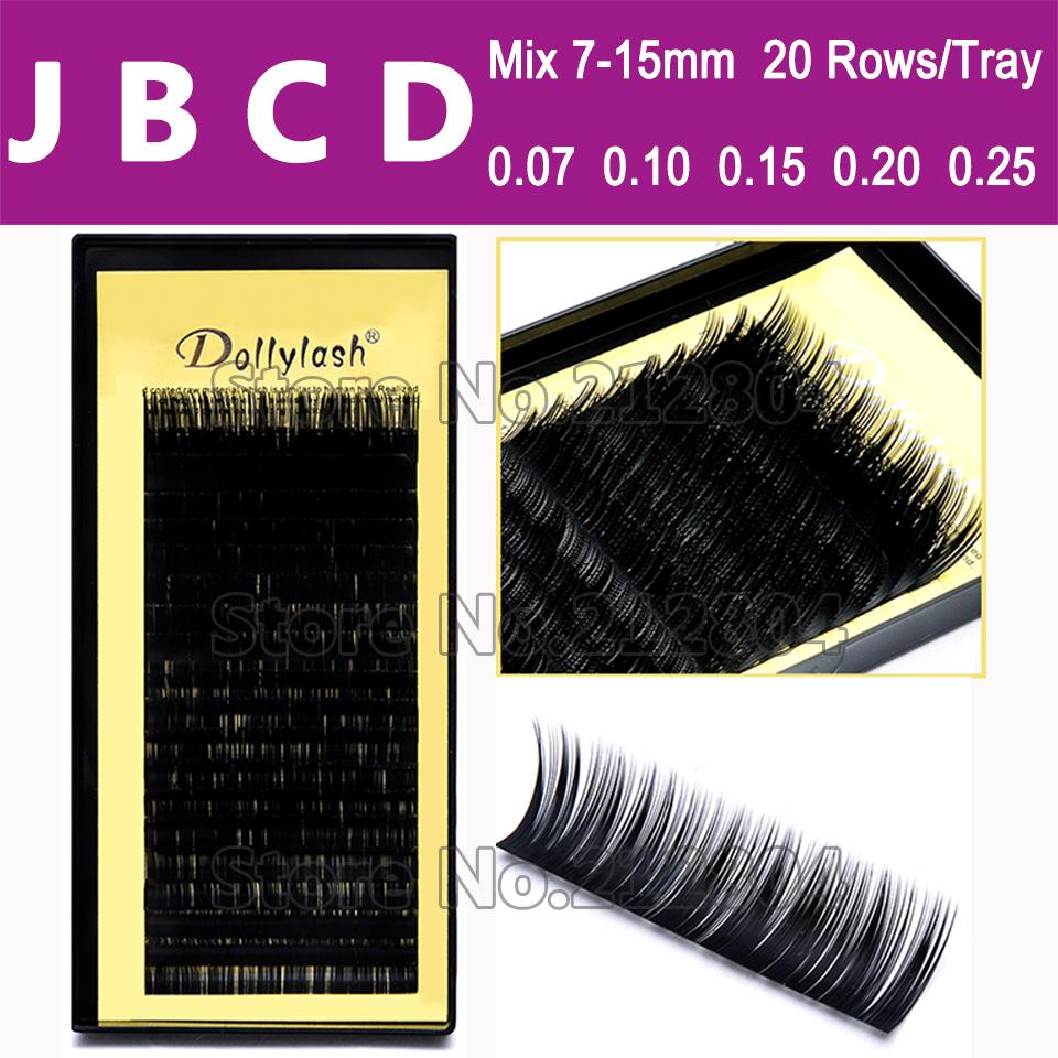 7ed897b57cb Wholesale All Size,7~15mm MIX In One Tray ,20rows/Tray, Mink Eyelash  Extension,Natural Eyelashes,Individual False Eyelash Eyelash Extension  False Lashes ...