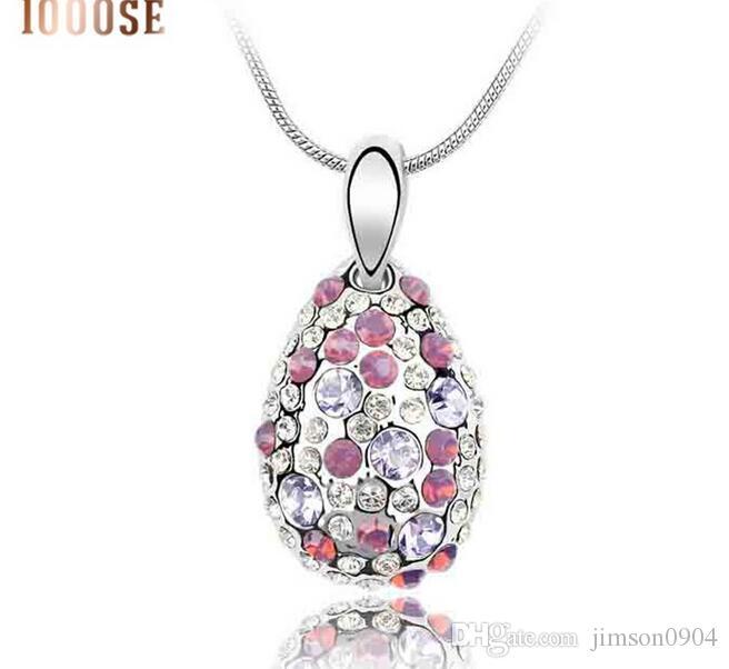 2017 nouveau 1000SE Qualité produits femme Collier En Cristal Cyclamen Haut De Gamme Pendentif Ornements en gros bijoux vente