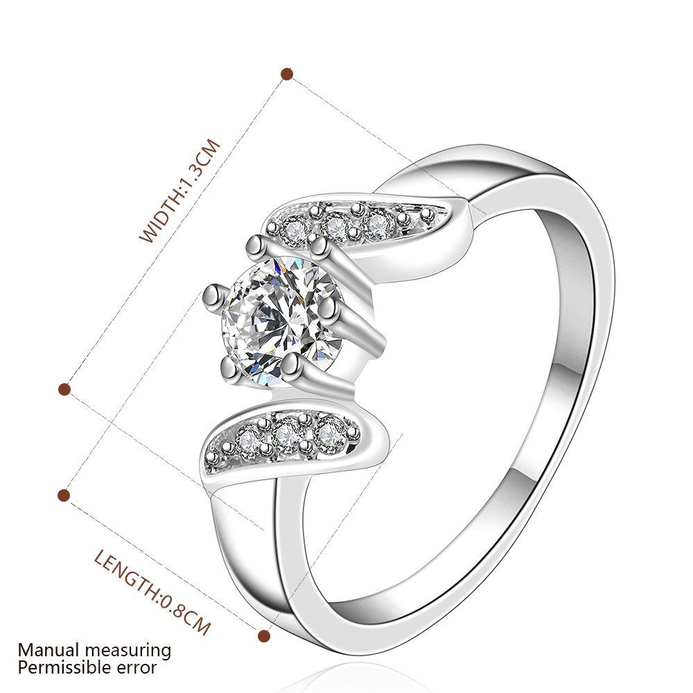 Ücretsiz kargo Toptan 925 Ayar Gümüş Kaplama Moda Orta taş yüzük Takı LKNSPCR155-8