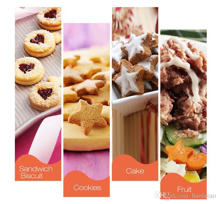 Biscuits aux fruits de légumes d'acier inoxydable Biscuits de gâteau de fondant de gaufrage de moule