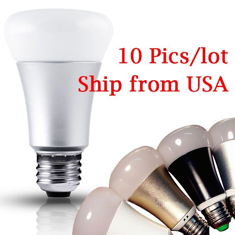 wholesale 10 pics rgbw smart light bulb work like hue bulb use wireless ir remote control. Black Bedroom Furniture Sets. Home Design Ideas