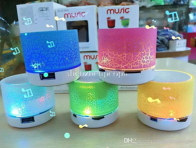 Mini haut-parleur Bluetooth haut-parleurs LED couleur flash A9 mains libres sans fil haut-parleur stéréo Radio FM carte TF USB pour téléphone portable ordinateur
