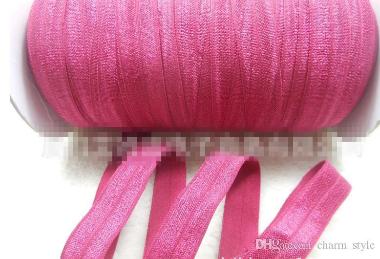 50Yards se replier sur élastication Foldover Foe Flolover Foe Elastics pour liens de cheveux Bandeaux Bandeaux Variété Couleur