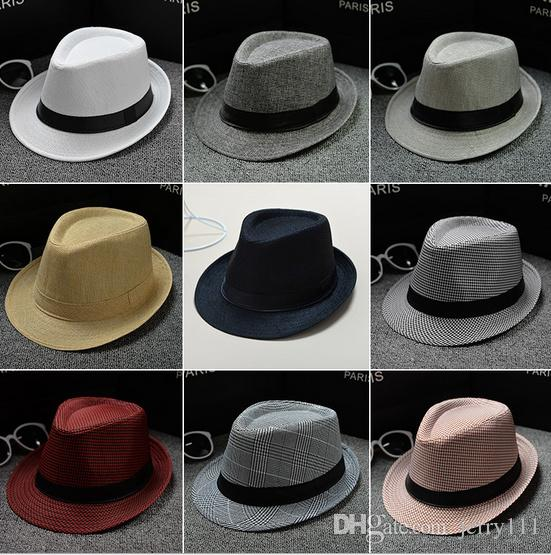 db1df474c2220 2019 Vogue Men Women Soft Fedora Panama Hats Cotton/Linen Straw Caps  Outdoor Stingy Brim Hats Spring Summer Beach LC612 From Jerry111, $2.22 |  DHgate.Com