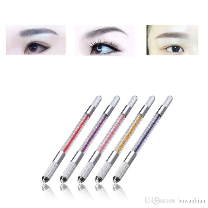 Double Head Permanent Eyebrow Tattoo Pen Professional 3d