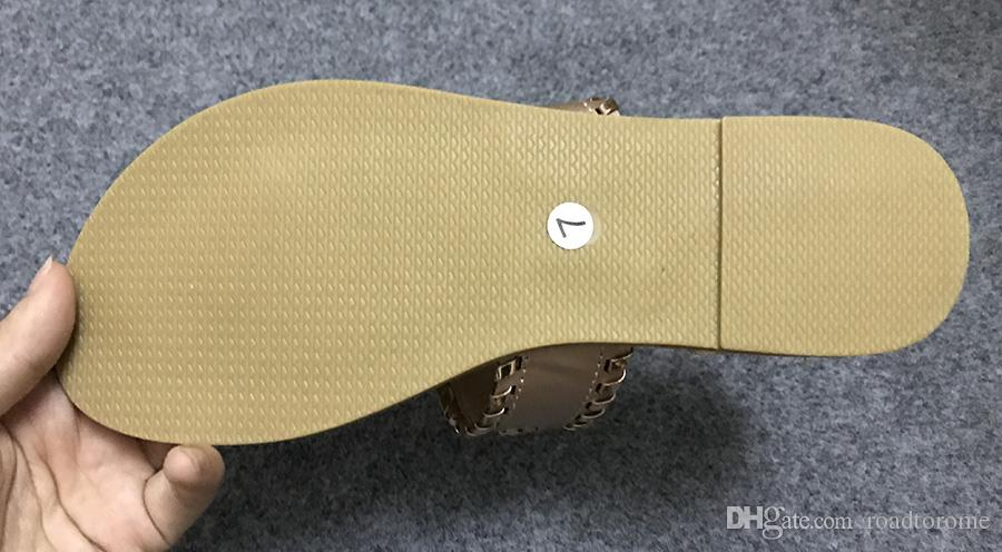 Nuevo 2018 zapatos del estilo del verano de las mujeres sandalias de moda pisos buena calidad sandalias Flip Flops zapatillas atractivas más tamaño 6-11 envío gratis