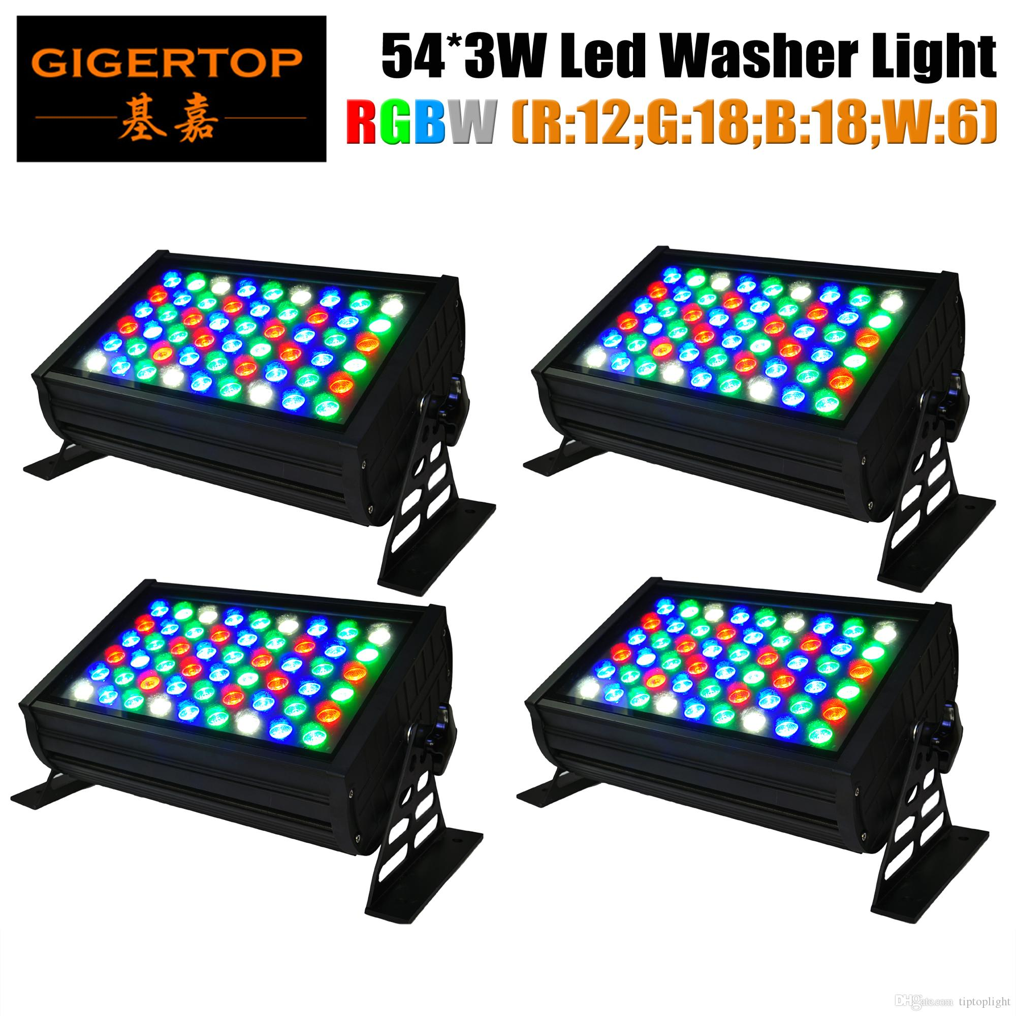 Tiptop 54x3w led wall washer light waterproof ip65 200w rgbw led see larger image aloadofball Image collections