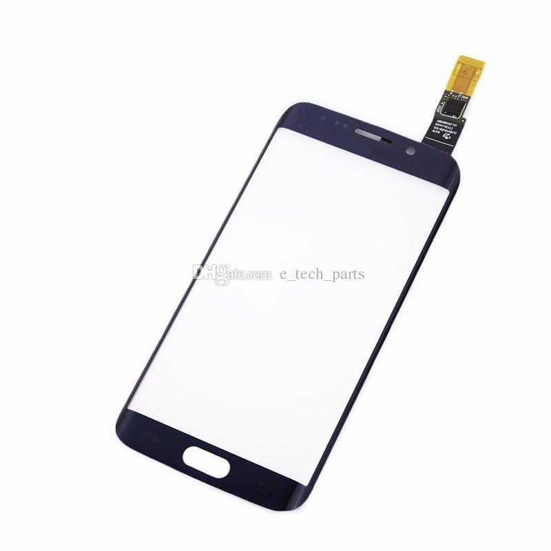 لمس الشاشة محول الأرقام لسامسونج غالاكسي S6 حافة G9250 G925F G925V G925P مع شعار الجبهة اللمس الاستشعار زجاج الشاشة لوحة استبدال