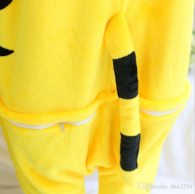 Nuevo adulto animal pijama pijama cosplay tigre amarillo mono pijama