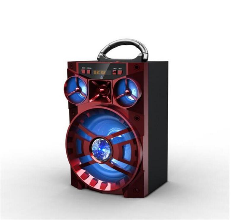 MS-188BT Bluetooth Lautsprecher Big Sound Hifi Lautsprecher Bass Drahtlose Subwoofer Spieluhr Mit USB LED Licht TF FM Radio MIS137