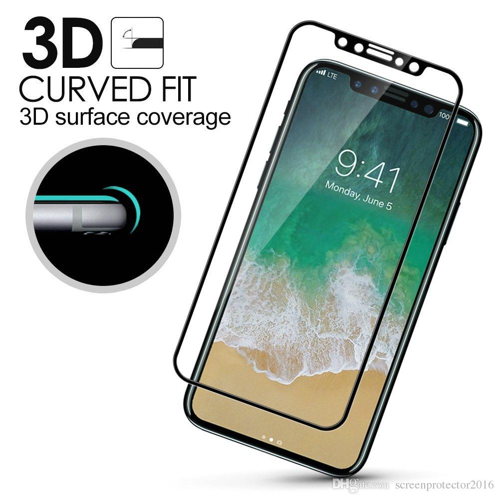 size 40 97249 1a040 For iPhone 8 Tempered Glass 3D Curved Edge Full Cover Premium Screen  protectors Soft Edge Red Screen Protector Film For iPhone 7s 6s Plus