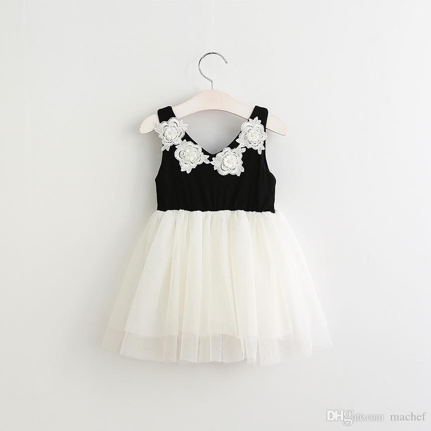 Großhandel Mädchen Blumenkleid Sommer Prinzessin Partei Kleid ...