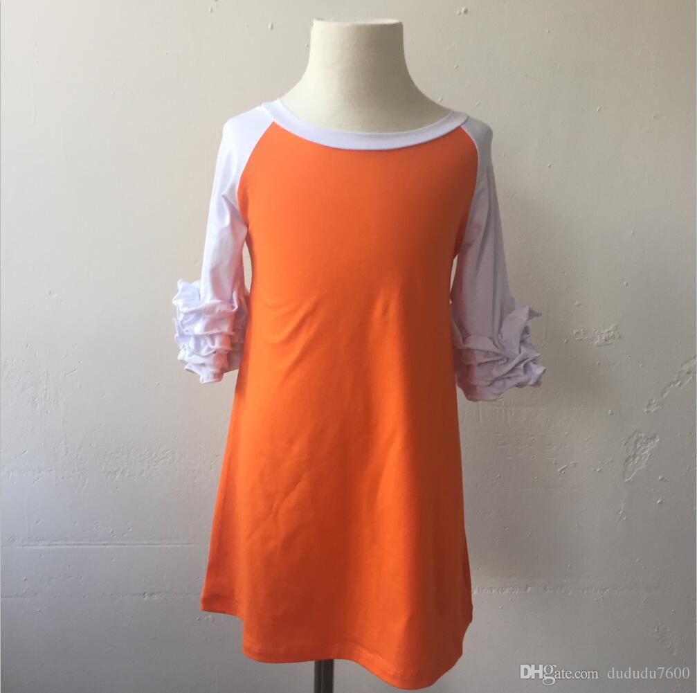 Güz kış yumuşak el buzlanma raglan uzun kollu elbise hissediyorum çocuk yuvarlak boyun renkli isteğe bağlı bebek kız elbise