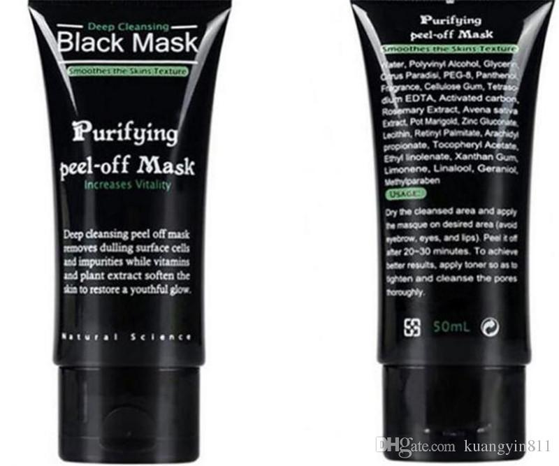 Black Suction Mask Anti-Aging 50ml SHILLS Deep Cleansing purifying peel off Black face mask Remove blackhead Peel Masks DHL