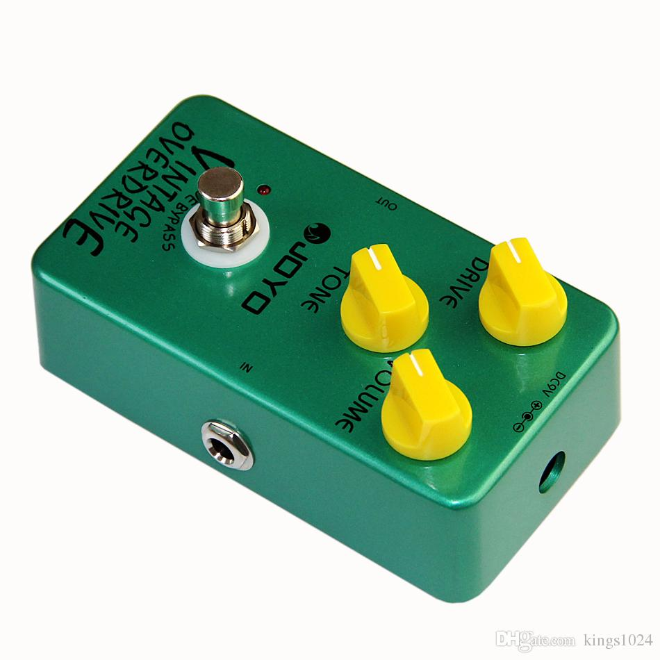 JOYO JF-01 Electric Bass Guitar Effect Pedal Vintage Overdrive DC 9V True Bypass Dynamic Compression+MOOER PC-S pedal connector