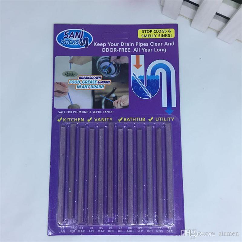 Сани палка проводник ванна канализация обеззараживание палочки очистки держите ваши сливные трубы ясно и без запаха в течение всего года 2 94wr