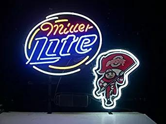 2018 new ohio state buckeyes brutus miller lite neon light sign home 2018 new ohio state buckeyes brutus miller lite neon light sign home beer bar pub recreation room game room windows garage wall sign 17wx 14h from loveneon aloadofball Choice Image