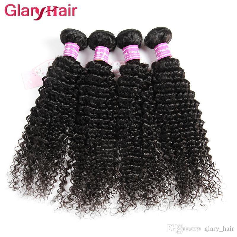 Nouveau Mode Style Glary Cheveux Produits Péruvienne Cheveux Humains Weave Bundles Crépus Bouclés Weaves Doux Pas Cher Mink Brésilien Extensions de Cheveux