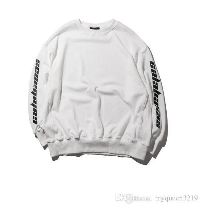 High Quality 2017 Kanye West Season 4 Lost Mind CALABASAS Fan Made Fashion Men Women Hoodie sports Sweatshirt Streetwear Hoody