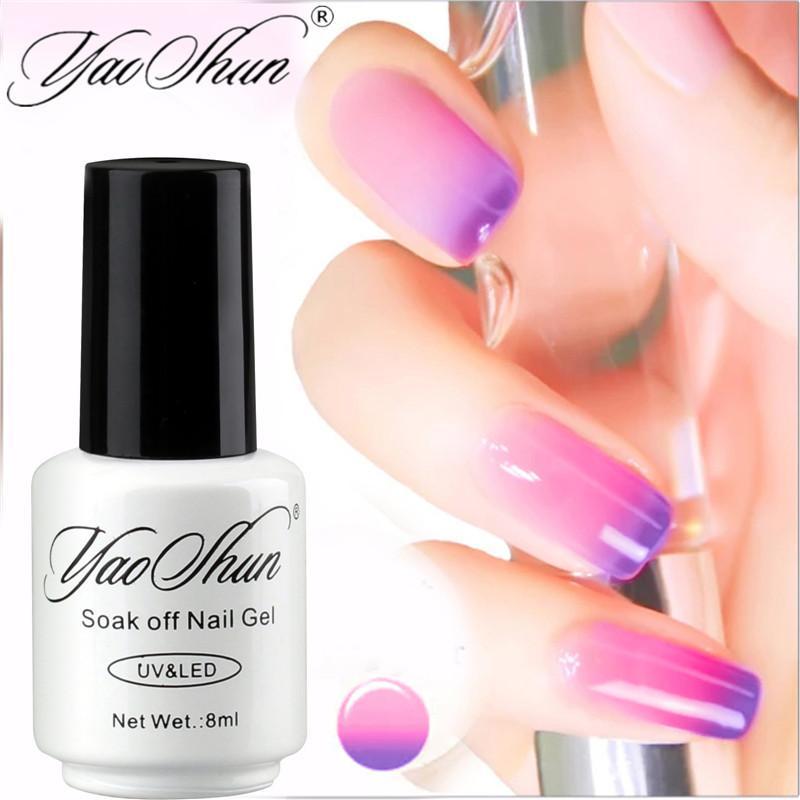 Yao Shun 8ml Temperature Mood Color Changing UV Nail Gel Polish ...