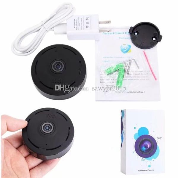 360 grados inalámbrica Ojo de la cámara Cámara IP VR panorámica HD 960P 1.3MP inalámbrica Wifi Seguridad para el Hogar con la visión nocturna por infrarrojos