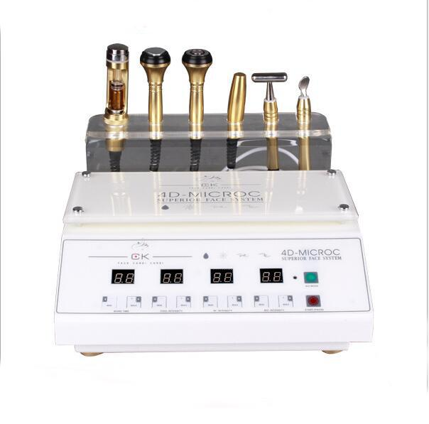 2017 hot sale multifunction ultrasonic facial massager beauty high frequency galvanic facial skin tightening machine for home use