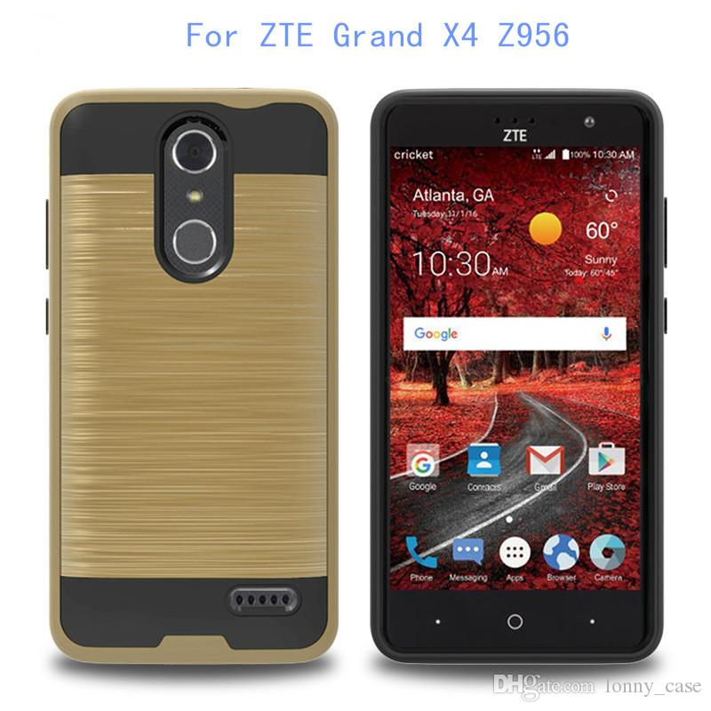 For ZTE Grand X4 Z956 Tempo N9131 boost For LG X POWER K210 V20 Mars armor case Hybrid Brushed 2 in 1 cover