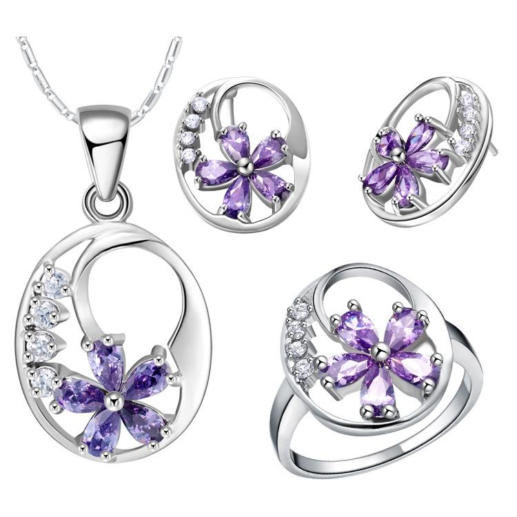 NUOVO set di di gioielli in argento puro set di gioielli in plum blossom all'ingrosso
