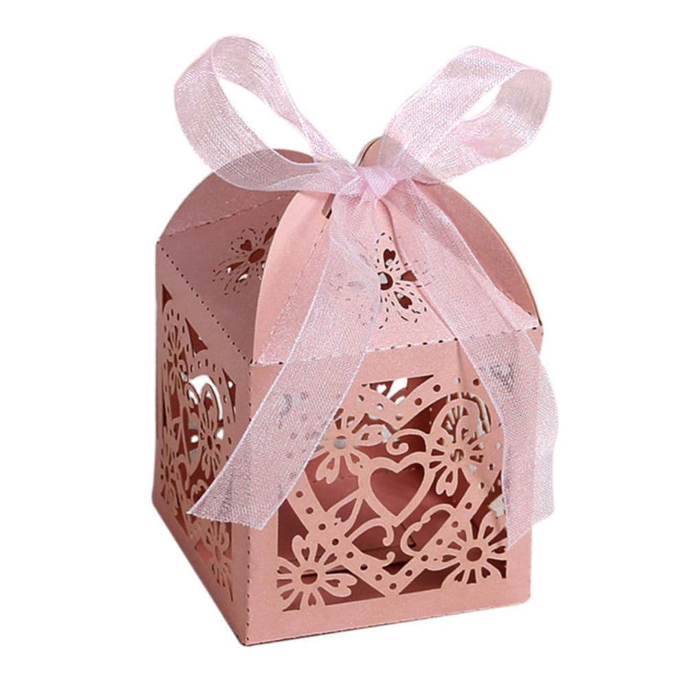 Wedding Candy Box Hollow Carriage Love Heart Party Wedding Favors ...