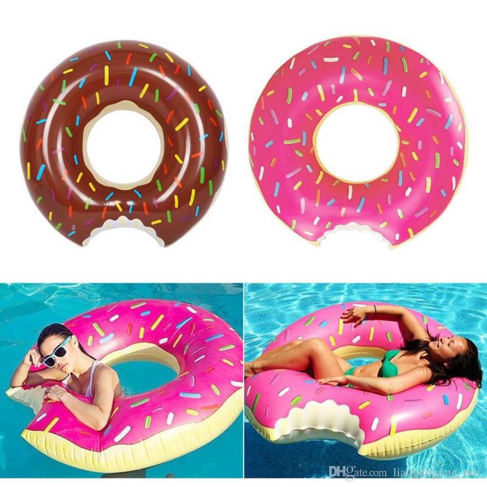 Inflatable Donut Swimming Ring Pool Float Swimming Circle 120cm Adult Inflatable Mattress Beach Water Party Toys OOA2273