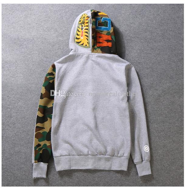 Für Männer Frauen Sportwear Coat Jogger Anzug Fleece-Sweatshirt Crewneck Vogel OVO Drake Black Hip Hop stusay Hoodie Männer Shark Mund