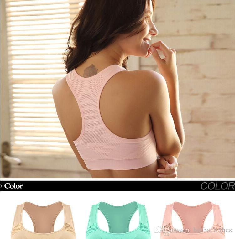 ada5923fb3cdb Best Quality Professional Absorb Sweat Top Athletic Running Sports Bra Gym  Fitness Women Seamless Padded Vest Tanks Gym Clothes At Cheap Price