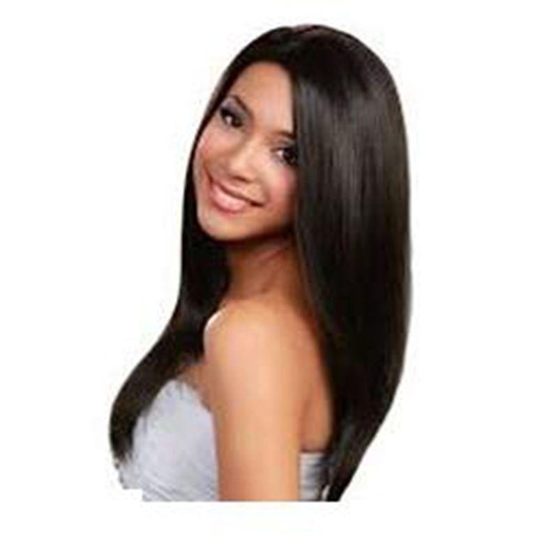 Straight Wig Simulation Brazilian Human Hair Full Wigs Silky