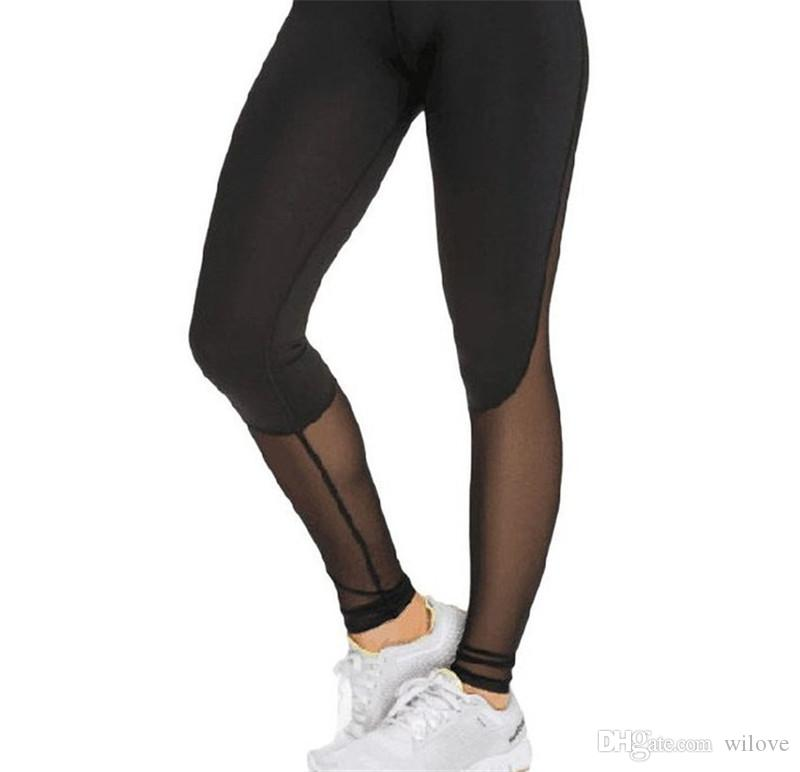 Women Mesh Women Leggings Elastic Stretch Sport Slimming Legging Workout Active Pants Running Tights Fitness Leggings Gym Trousers