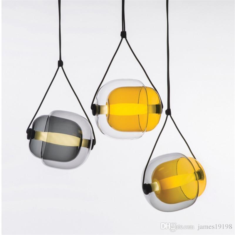 LED Glass Modern Pendant Lamp Creative Ceiling Light Chandelier Fixture Lighting For Dinning Room Hotel Home Decor