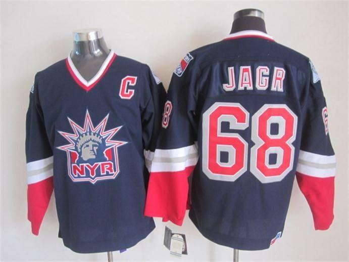 Jersey de hockey New York # 2 Brian Leetch 35 Richter 9 Adam Graves 68 Jagr 99 Gretzky 11 Messier BLANCO AZUL