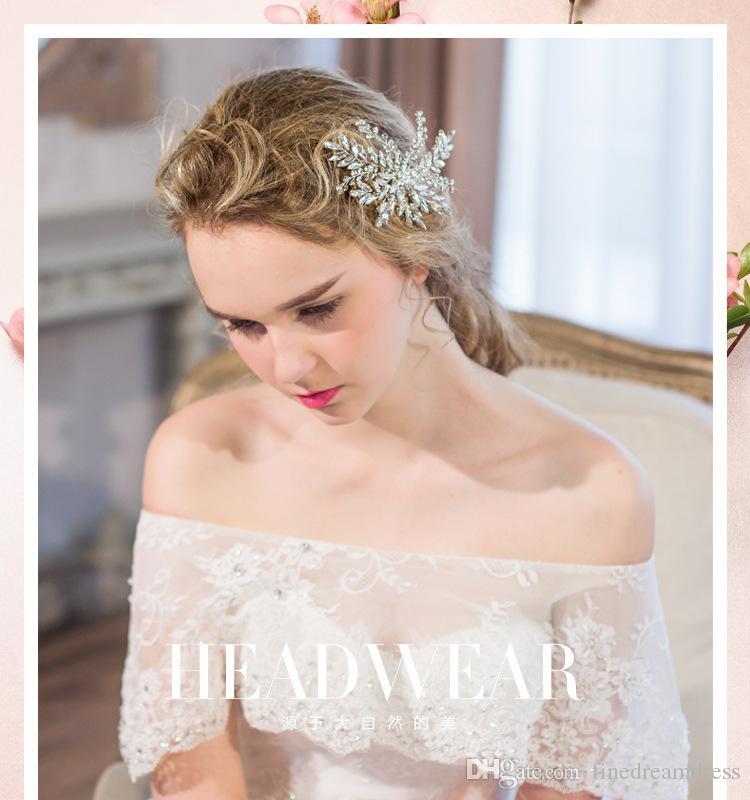 Wedding bridal Hair Clip Hand Made Crystal Diamond Beaded Head Pieces Accessories SL3
