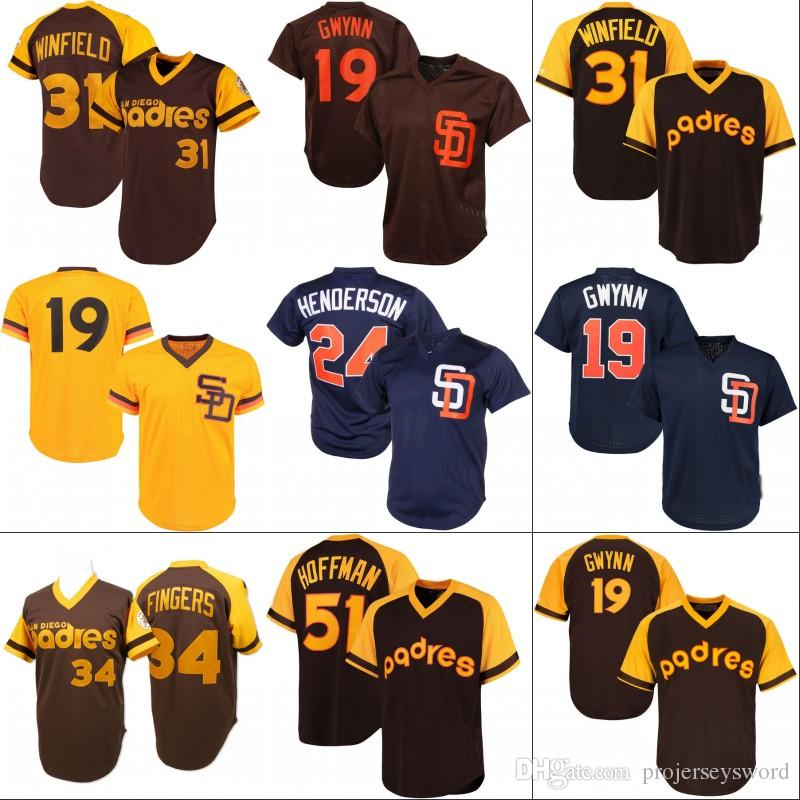 1827faa96 ... 2017 San Diego Padres Jersey Mens 19 Tony Gwynn 1982 1985 Authentic  Cooperstown Collection Throwback Baseball ...