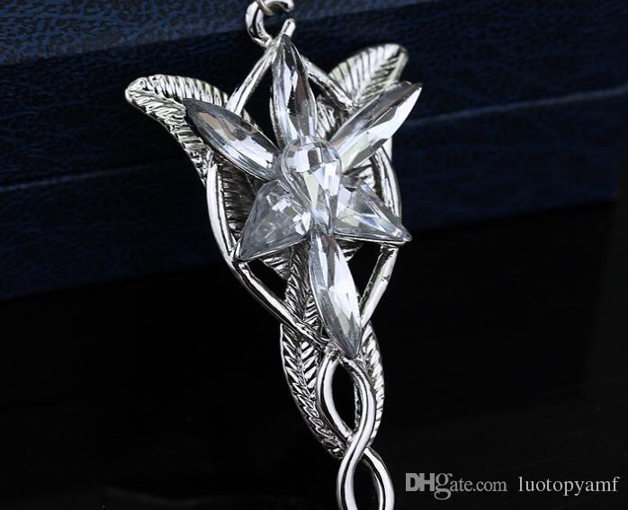 Vendas Hot Lotr Senhor Dos Anéis Elf Princesa Arwen Evenstar Pingentes Crepúsculo Elfos Princesa Banhado A Prata Pingente de Pescoço Cosplay jóias