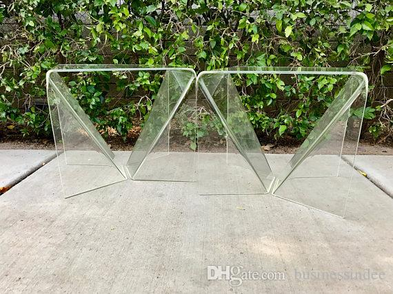 2018 Modern Clear Plexiglass End Table Top Grade Acrylic/Lucite Arigami  Table Set From Businessindee, $804.03 | Dhgate.Com