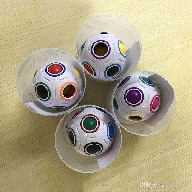 Rainbow Ball Magic Cube Velocità Calcio Divertimento Creativo Puzzle sferici Bambini Giochi educativi di apprendimento Bambini Giocattoli di ansia adulti LC623