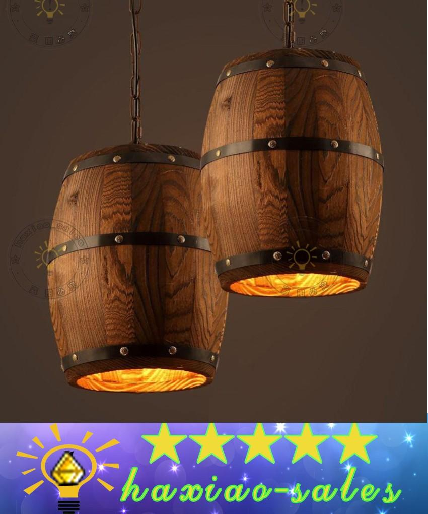 American country loft wood wine barrel hanging fixture ceiling american country loft wood wine barrel hanging fixture ceiling pendant lamp e27 light for bar cafe living dining room restaurant clear glass pendant light arubaitofo Image collections