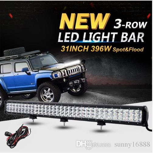 31inch 396w 3 row 6d cree chips led offroad light bar combo led work 31inch 396w 3 row 6d cree chips led offroad light bar combo led work light for 12v 24v truck suv atv 4wd pickup led bar best led work light rechargeable aloadofball Image collections
