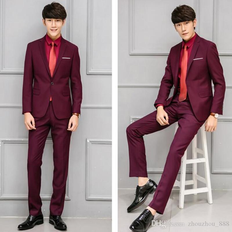 New arrival men suits slim fit groom suits tuxedos for men elegant wedding groomsman party suits for menjacket+pants