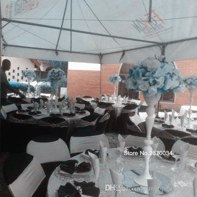 Geisteskandelaber-Mittelstück des neuen Artgroßverkaufs mit Blumenschüssel für Hochzeits- und Partydekor